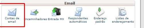criar contas de e-mail.