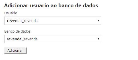 adicionar o banco ao usuario